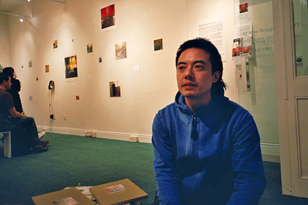 Dinu Li in his exhibition in Leeds by Christos Stavrou
